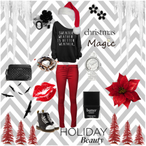 This can be used as a casual holiday break outfit for shopping or just hanging with friends and family.