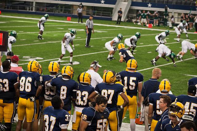 The Lions play on Thanksgiving in 2013 Photo from Texas A&M University Commerce Marketing Communications Photography under Creative Commons license
