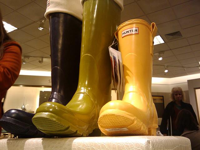 Just some of the many styles of Hunter boots Photo via Flickr under Creative Commons license
