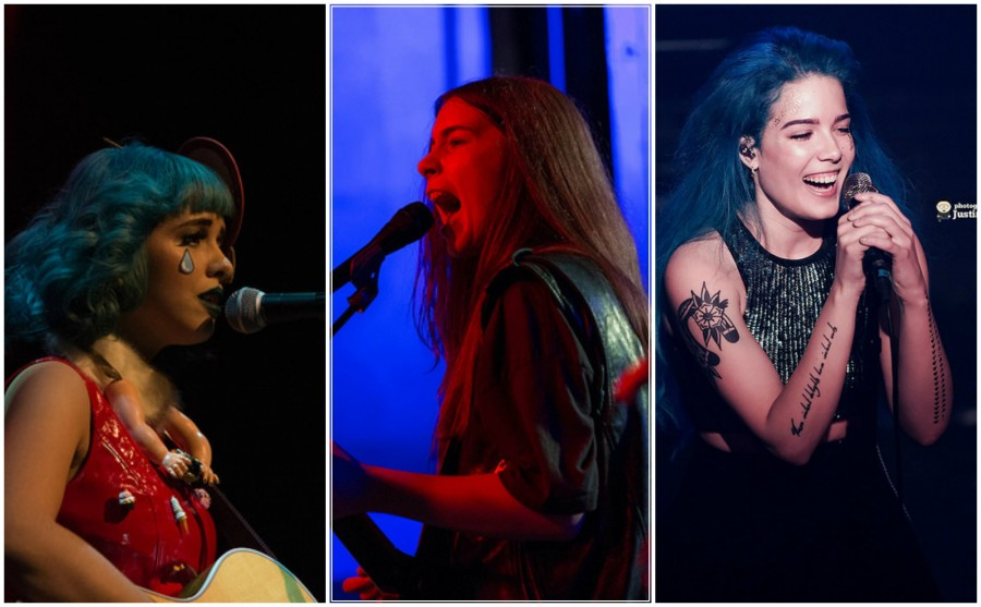 (From left to right) Melanie Martinez, HAIM, and Halsey. Photo via Flickr by DeShaun Craddock, Nan Palmero, and Justin Higuchi under Creative Commons license