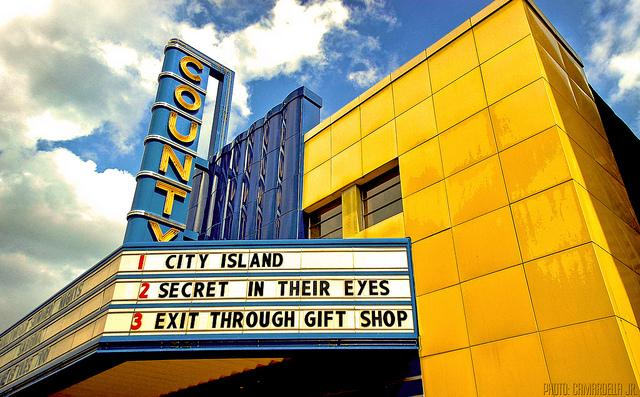 Take a nice trip to the county theater! Photo from Al Camardella Jr. via Flickr under Creative Commons license